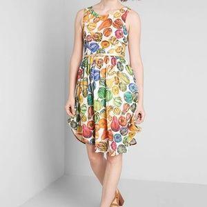 Modclith Pretty Midi A-Line Fall Squash Dress 2X